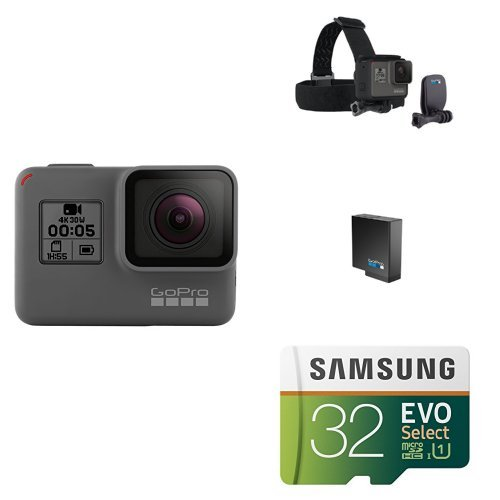: GoPro HERO5 Black w/ Head Strap, Battery and Memory Card