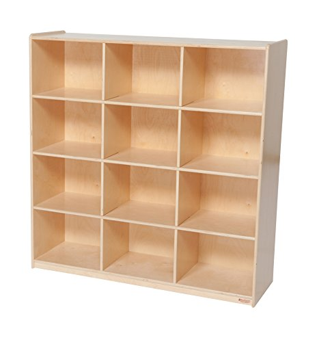 Baltic Birch 12 Cubby Storage (Wood Designs WD50912 (12) Big Cubby Storage, 49 x 48 x 15