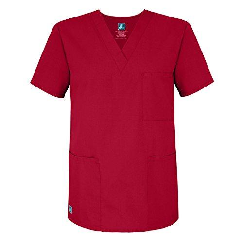 Unisex Camice Superiore Parte Ospedale Da Mediche Infermiera red Uniformi Rosso Lavoro Adar qtOfxaRw