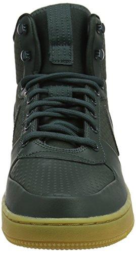 Nike Herren Court Borough Mid Winter Basketballschuhe Grün (Outdoor Green/outdoor Green/black)