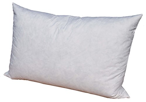 Pillowflex 95% Feather by 5% Down Pillow Form Insert Stuffers for Throw sham Covers and Cushions (16 Inch by 26 Inch)
