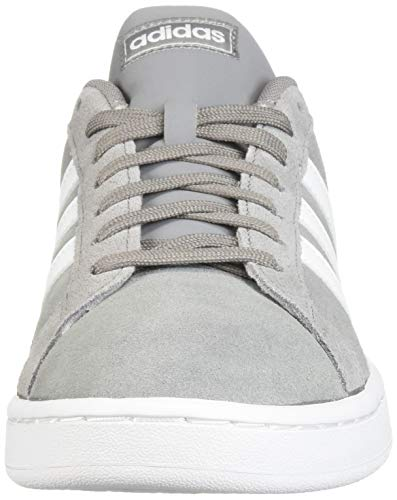 adidas Men's Grand Court Sneaker, Grey/White/Grey, 9.5