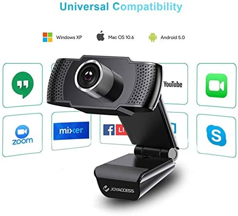 Camara web 1080P HD con micrófono, cámara web de computadora USB para computadora portátil, reducción de ruido, visión de ángulo amplio de 105 ° para streaming, confrencia de zoom, juegos, YouTube Skype FaceTime. (Negro) 41j dq1xEjL