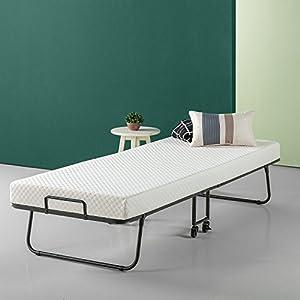 Zinus Roll Away Smart Guest Bed with 4 Inch Comfort Foam Mattress