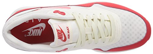 Nike Air Max 1 Ultra Essentials - Zapatillas de running Mujer rojo - Rot (Sail/Challenge Red-Black 100)