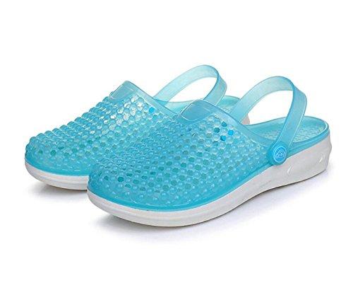 Azul DANDANJIE Zuecos Summer secado Garden de ligero antideslizante Beach Zapatos Womens Walking Sandals Zapatillas de Pool PVC rápido rrSqETvw