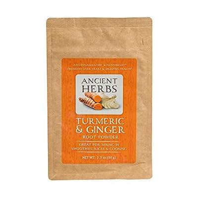 Ancient Herbs, Turmeric Ginger Root Powder, 3.3 oz, 33 Servings