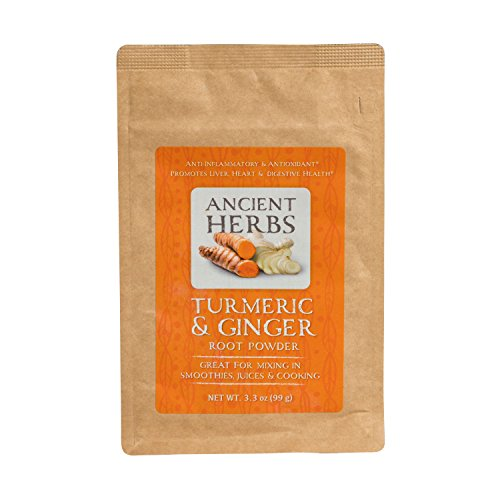 Ginger Root Herbs - Ancient Herbs, Turmeric Ginger Root Powder, 3.3 oz, 33 Servings