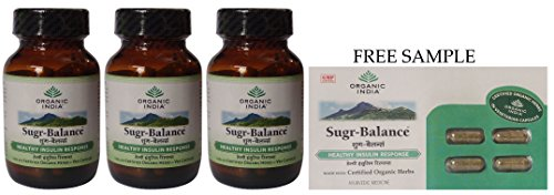 organic-india-sugar-balance-60-veg-capsules-pack-of-3-free-expedited-shipping-via-dhl-express-delive