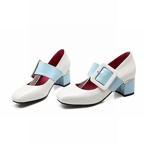 Vernis Carré Bout MissSaSa Blanc Style Escarpins Femmes Anglais qgfEnY