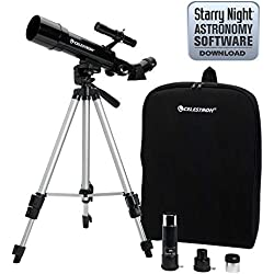 Celestron 21038 Travel Scope 50 Telescopio (Negro)