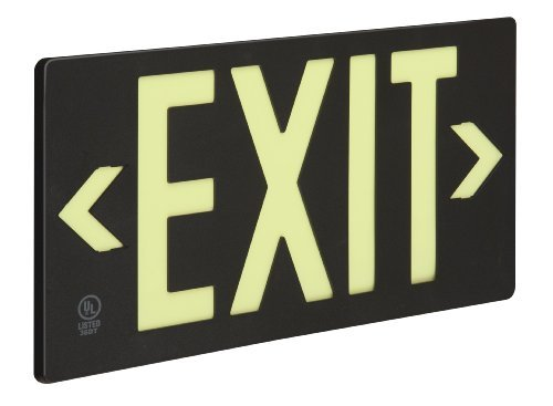 Glo Brite 7062-B 8-3/2-by-15.375-Inch Double Faced Eco Exit Sign with Frame, Black by Glo Brite [並行輸入品] B0184WF5L4