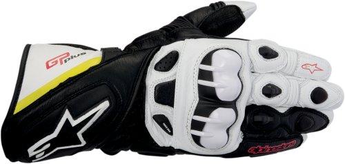 Alpinestars GP Plus Leather Motorcycle Glove- Black / White / Yellow / Red LG