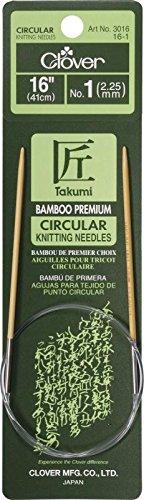 Aguja Circular Clover Takumi Bamboo 41cm  - 1