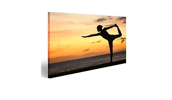 islandburner, Cuadro Cuadros Mujer de Yoga en la Puesta de ...