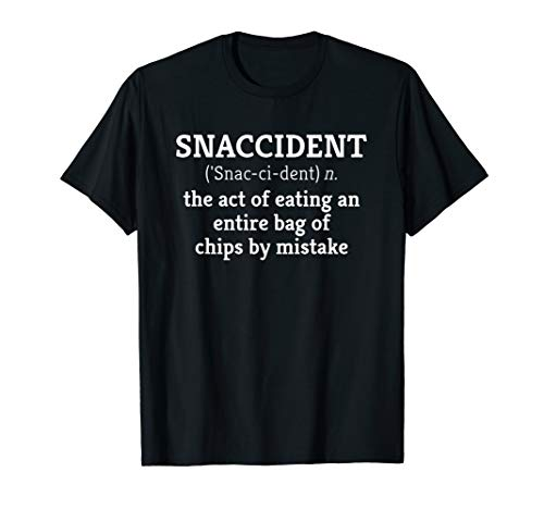 Funny Junk Food, Chips T Shirt: Snaccident