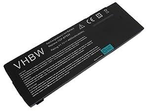vhbw Li-Ion batería 4400mAh (11.1V) para Notebook Laptop Sony Vaio VPC-SE16FW/B, VPC-SE16FW/S, VPC-SE17GA/B, VPC-SE17GG por VGP-BPS24.