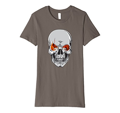 Womens Skull Scary Halloween Costume or Biker T-Shirt Small Asphalt