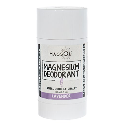 Natural Deodorant with Magnesium - Lavender 2.8 oz - Aluminum Free, Baking Soda Free, Alcohol Free, Cruelty Free, Healthy, Safe, Non Toxic - All Natural Deodorant For Women & Men (Lasts over 4 months)