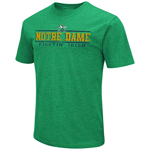 Colosseum Notre Dame Fighting Irish Adult Soft Vintage Tailgate T-Shirt - Kelly Green, Large