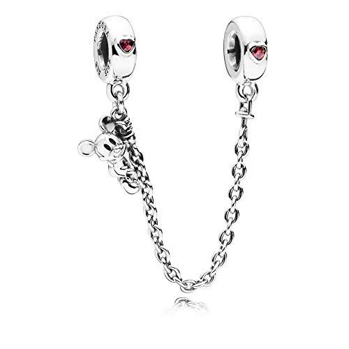 - Pandora Disney Climbing Mickey Safety Chain Silver Bracelet 797173CZR05