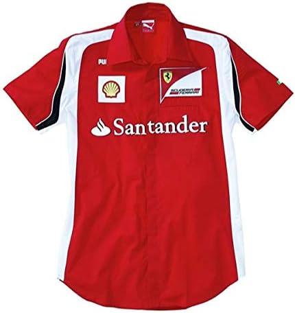 FERRARI 76085101M Camisa, Hombres, Rojo, Talla M: Amazon.es ...