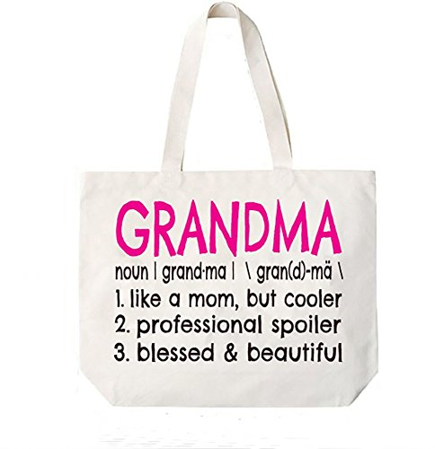 Grandma Definition Canvas Tote Bag Grandma Gift Idea Book Bag