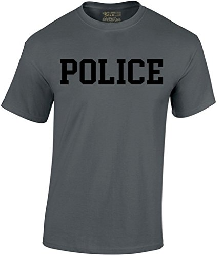 Awkward Styles Awkwardstyles Men's Police T-Shirt Black Cop Duty Style Shirt L (Cop Premium Package)