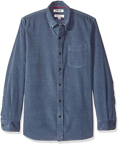 Goodthreads Men's Standard-Fit Long-Sleeve Corduroy Shirt, -denim, Medium ()