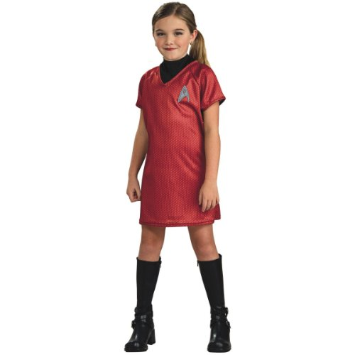 Star Trek Movie Child's Deluxe Red Dress with Emblem Pin, Large