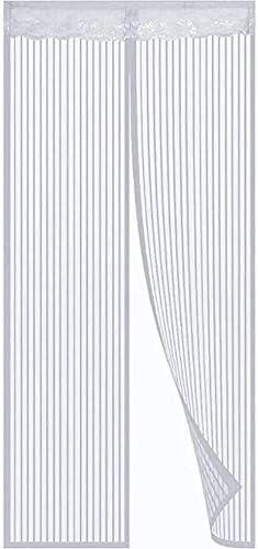 フライスクリーンドア昆虫アウトモスキートドア画面を保ち、上から下へのシールが自動的にバルコニーがドアリビングルームキッズルームをスライドさせるための蚊のカーテンから遠ざける140 X 220センチメートル