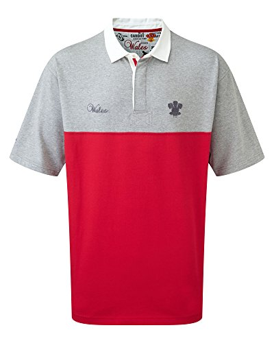 Short Sleeve Classic Rugby Shirt Wales 4XL Red ()