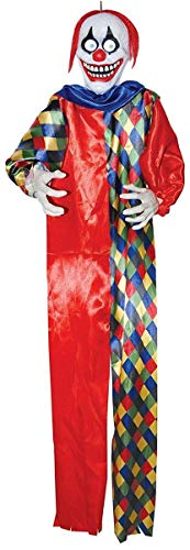 Evil Clown Props - Creepy Halloween Eye's Moving Clown with