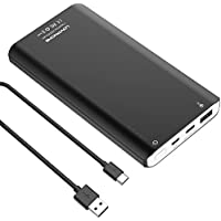 Power Bank - LOVPHONE 10000mAh Ultra Slim Power Bank with Quick Charge 3.0,Dual SMART USB Ports Portable Battery Charger Power Bank for iPhone,iPad,iPod,Samsung and more(Black)