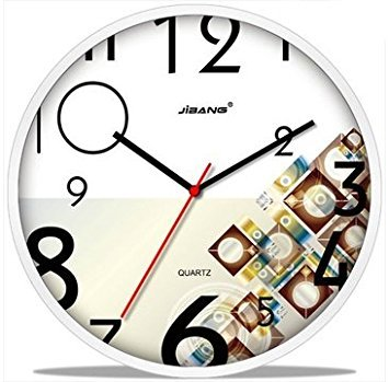 modern stylish creative round 12inch nonticking quiet wall clock chic funky numbers