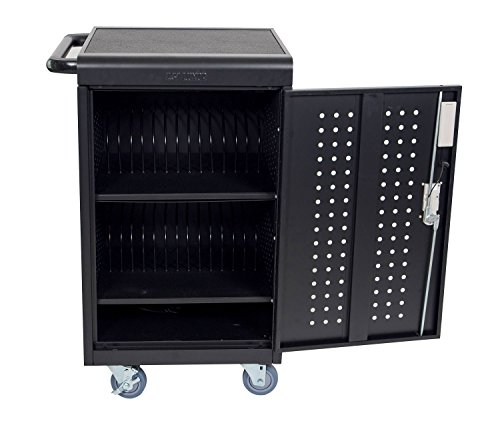 Luxor LLTM30-B-KP 30 Tablet/Chromebooks Charging Cart with Programmable Keypad Lock by Luxor
