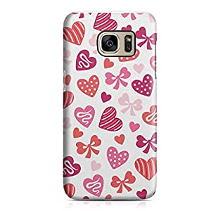 Samsung S7 Edge Case Cute love ly Heart Pattern For Valentines Day, Great For Girls Sleek Scratch Resistant Samsung S7 Edge Cover Wrap Around 39