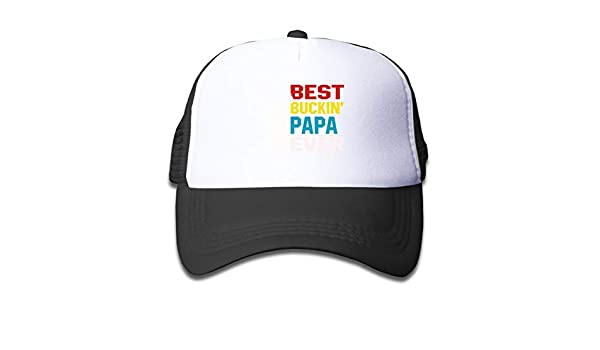 5e267eef783 Amazon.com: Best Buckin' Papa Ever Mesh Cap Baseball Trucker Hats  Adjustable for Girl Black: Clothing