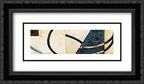 Line and Verse #II9 2X Matted 24x14 Black Ornate Framed Art Print by Holland, Cynthia