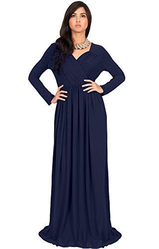 men Long Sleeve Sleeves Empire Waist Floor-length Cocktail Elegant Evening Fall Modest Winter Formal Abaya Cute Gown Gowns Maxi Dress Dresses, Navy Blue XL 14-16 (3) (Waist Matte Jersey Dress)