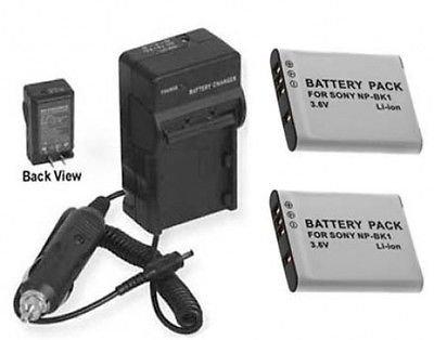 2つ2電池+充電器for Sony mhs-pm5 K / W、Sony mhs-pm5 K / L、Sony mhs-pm5 K / P、Sony mhs-pm5 K / V   B01DNAC1ZA