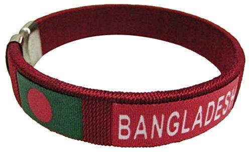 Flag C Bracelets Wristbands - Asia & Africa (1-Pack, Country: Bangladesh)
