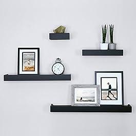 Ballucci Modern Ledge Wall Shelves, Set of 4