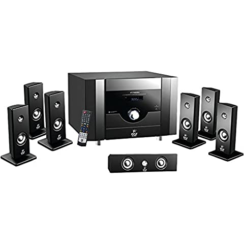 PYLE 7.1 Channel Home Theater System with Satellite Speakers, Center Channel, Subwoofer, Bluetooth, FM (Subwoofer And Center Speaker)