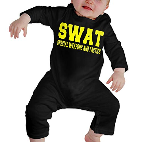 Police Swat Thin Blue Line Long Sleeve Baby Bodysuits Cotton Toddler -