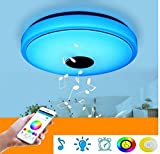 LED Ceiling Light, Dimmable Smart Music Ceiling Lamp with Bluetooth Speaker, Cellphone APP