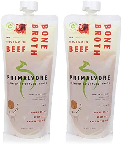 Primalvore Organic Bone Broth for Dogs: Liquid Dog Food Gravy Wet Topper - All Natural Instant Canine Digestion Formula - Best as Hydrating Unsalted Bonebroth Topping to Pour Over Your Pets Kibble 2