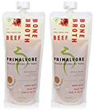 Cheap PRIMALVORE Organic Beef Bone Broth for Dogs – Human Grade Beef Bone Broth with added Collagen & Turmeric, 12oz, Pack of 2