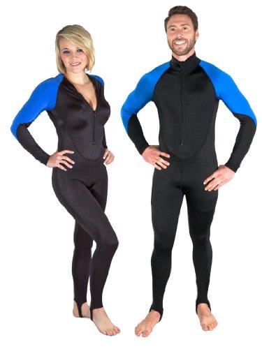 Storm Black/Blue Lycra Scuba Diving Skin - Size Medium (Dive Skin)