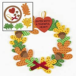 Enter With A Thankful Heart!4/5258 Wreath Craft Kit - Religious Crafts & Crafts for Kids